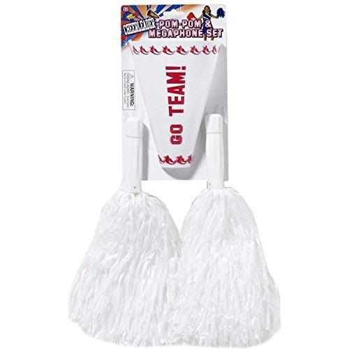 Forum Novelties Cheerleader Pom Pom Set (White) Child
