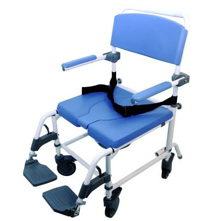 Shower Transport Chair Bath Toilet Rehab Commode Bariatric 22'' Extra-Wide Seat - Aluminum Adjustable 186 X-WIDE