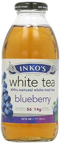 Inko's Iced White Tea, Blueberry, 16 oz