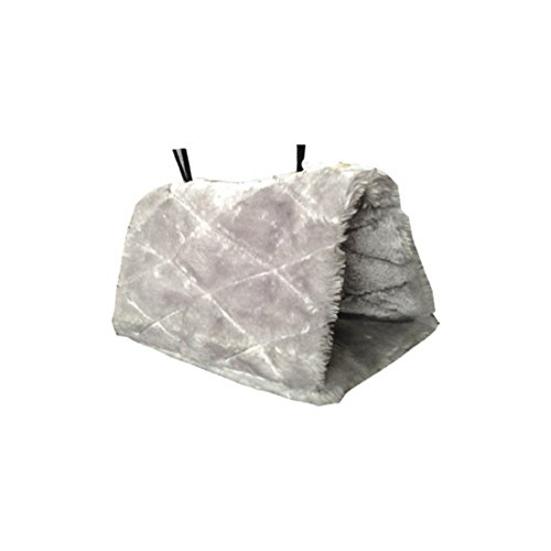Bestanx Pet Hammock For Parrot Small Animals Ferret Rat Parrot Squirrel Mouse Plush Fleece Snuggle Warm Hanging Bed House Nest Hut Cave Toy Grey