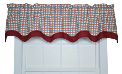 - Charlestown Check Bradford Valance Window Curtain, Patriot