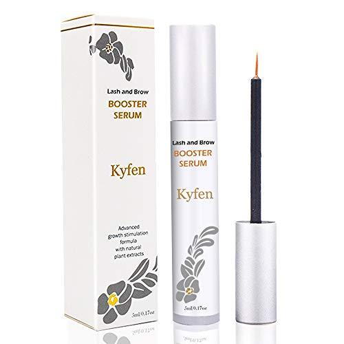 Kyfen Eyelash Growth Serum, Natural Brow Enhancing Serum, Organic Lash Boost Enhancer for Longer, Fuller, Thicker, Healthier Lashes and Eyebrows, FDA Approved (5ml)
