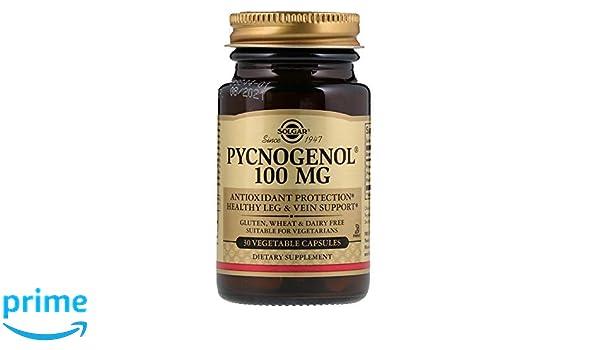 Solgar Pycnogenol Cápsulas vegetales de 100 mg - Envase de 30: Amazon.es: Salud y cuidado personal