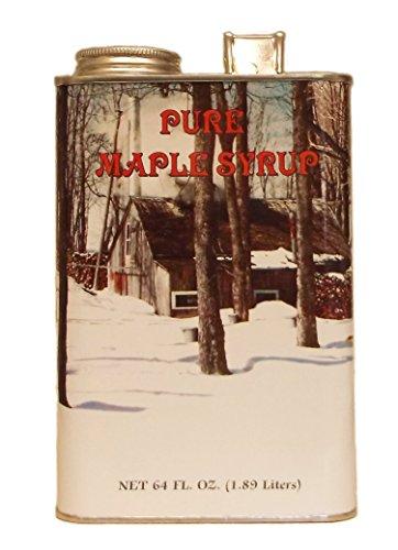 Ferguson Farms 100% Pure Vermont Maple Syrup, Grade A Fancy Light, Tin Half Gallon (64oz)