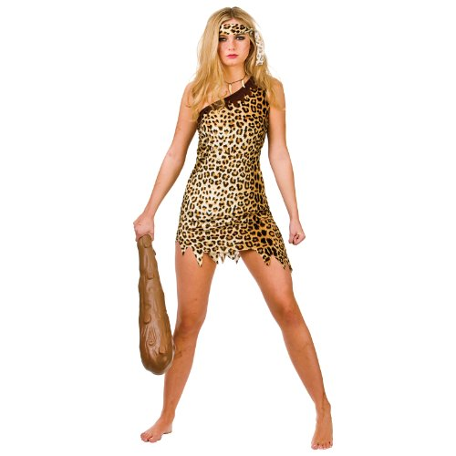 Cute Cavegirl Sexy Costume Woman Fancy Dress Medium