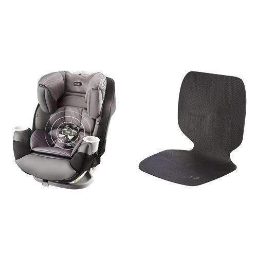 Evenflo SafeMax All-in-One Car Seat with SensorSafe, Industrial Edge with Car Undermat & Seat Protector