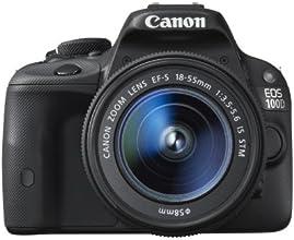 """Canon EOS 100D - Cámara réflex digital de 18 Mp (pantalla 3"""", estabilizador, vídeo Full HD), color negro - kit con objetivo EF-S 18-55mm f/3.5-5.6 IS STM"""