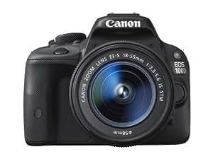 """Canon EOS 100D - Cámara réflex digital de 18.0 Mp (pantalla 3.0"""", estabilizador, vídeo Full HD), color negro - kit con objetivo EF-S 18-55mm f/3.5-5.6 IS STM"""