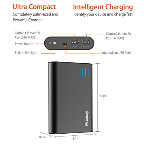 Jackery Portable External Charger Giant+ 12000mAh Dual USB Output Battery Pack Travel Backup Power Bank Emergency LED Flashlight iPhone, Samsung Other Smart Devices - Black by Jackery (Image #5)