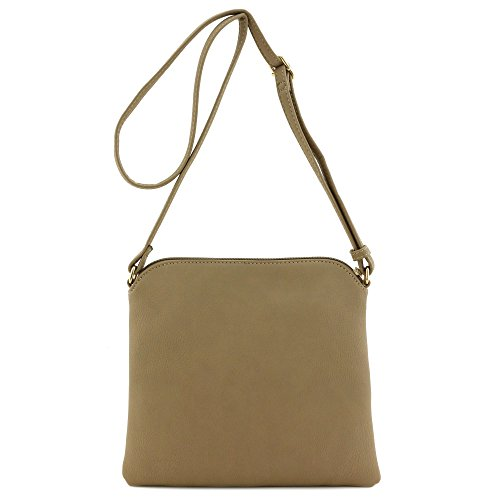 Brown Medium Tassel with Crossbody Bag Lightweight Khaki qzwxpYzd
