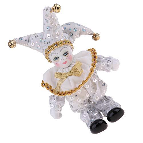 - SM SunniMix 8inch Lovely Porcelain Dolls Italian Eros Dolls Model Standing Triangel Doll Toys Home Desktop Decoration Collectibles White