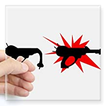 """CafePress - Packapunchgun Sticker - Square Bumper Sticker Car Decal, 3""""x3"""" (Small) or 5""""x5"""" (Large)"""