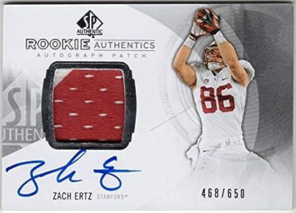 separation shoes 4b5f7 24da8 Amazon.com: Zach Ertz 2013 SP Authentic Rookie Authentics On ...
