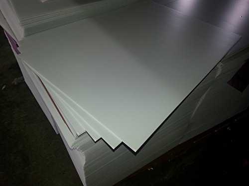 Highway Traffic Supply 4mm, White Coroplast Blank Signs, 18