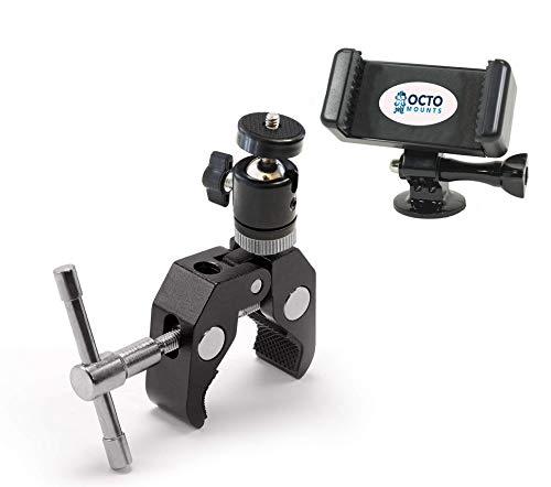 Title: OCTO MOUNTS Crab Clamp Mount with ¼' and 3/8