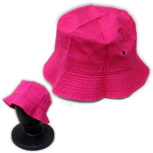 299 Bush - Hot Pink Genuine 100% Washed Cotton Bucket Bonnie Bush Hat Fishermen Summer Cap