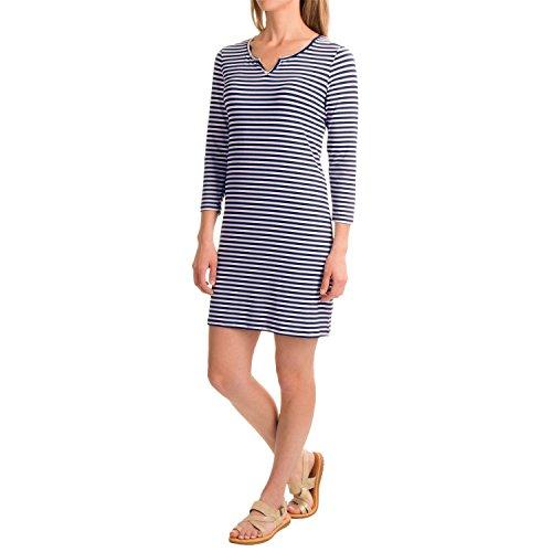 caribbean-joe-womens-three-quarter-sleeve-scoop-notch-neck-dress-high-seas-print-l
