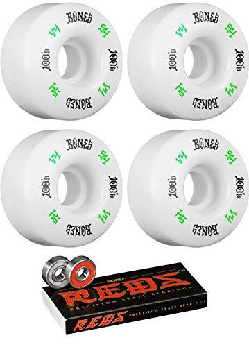 【国内即発送】 Bones Wheels 54mm B07JHL22Q7 100's OG #12 V4 ホワイトとグリーン 54mm/ブラック Wheels スケートボードホイール ボーンベアリング付き 8mm ボーンレッド 精密スケートボードベアリング 2点セット B07JHL22Q7, 釣鐘屋本舗:65bf1f3a --- mvd.ee