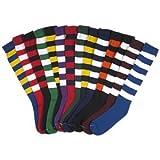 Profeet 331 Soccer Socks Black/Gold 9-11 Two Pack