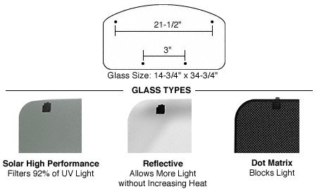 Cr Laurence SFC 16 x 36 Replacement Glass with Hardware f...