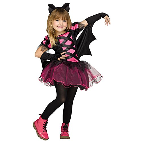 (Fun World Little Girl's Lrg/bat Queen Tdlr Cstm Childrens Costume, Mulri/Color,)