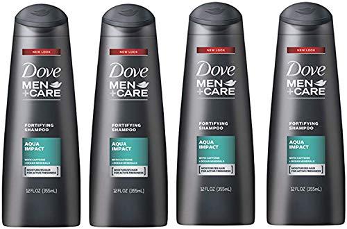Dove Men + Care Fortifying Shampoo, Aqua Impact, 12 Ounce (Pack of 4)