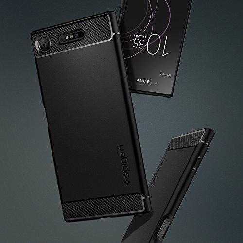 huge discount 173fb 87ebb Xperia XZ Premium Case, Spigen Rugged Armor - Resilient Shock Absorption  and Carbon Fiber Design for Sony Xperia XZ Premium (2017) - Black