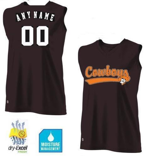 Ladies 2XL OSU/Oklahoma State Cowboys CUSTOMIZED Sleeveless Cool-Base Wicking dry-Excel NCAA Officially Licensed Replica Jersey Shirt
