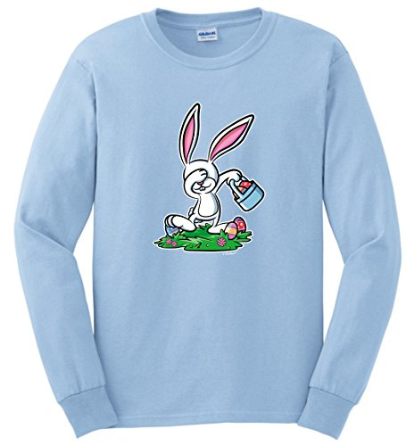 Easter Bunny Costume Easter Christian Easter Chocolate Bunny Dabbing Easter Bunny Funny Easter Gifts Long Sleeve T-Shirt 3XL LtBlu