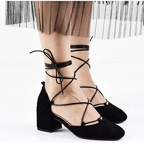 de Comfort Zapatos Pink Suede Gray Heel Gray Summer Black Mujer Heels Chunky ZHZNVX qXdx5q