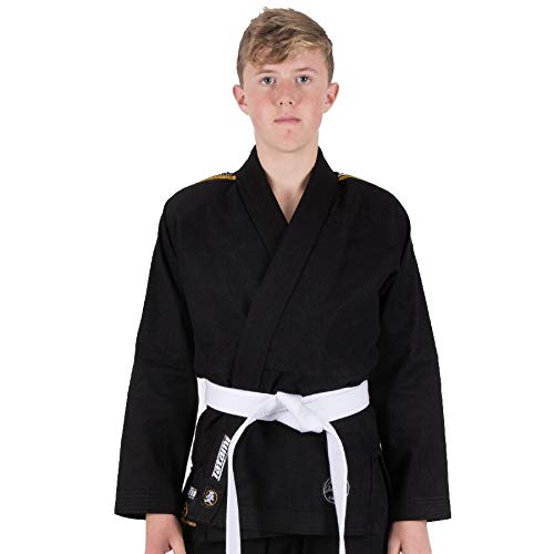 Tatami Kids Nova Absolute Brazilian Jiu Jitsu BJJ Gi w/Free White Belt - Black - M3 by Tatami Fightwear