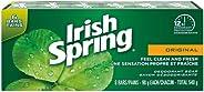 Irish Spring Original Deodorant Bar Soap, 6 Bars, 90g, 6 Count