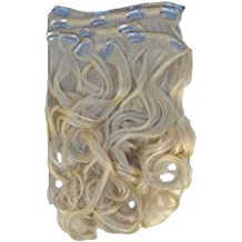 New Style Hair Extensions Clip In Set Extra Long 26 Ins Bleach Blonde Wavy 20... Synthetic
