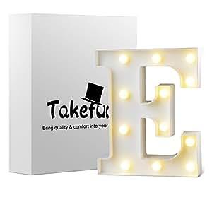Amazon.com: takefuns signo de letras Marquee alfabeto ...