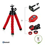 Fheimin® Universal Compact Flexible Octopus Style Tripod Stand Holder/Mount with Adapter for Smartphone / Digital Camera / GoPro Hero All Versions + Remote + Fisheye lens