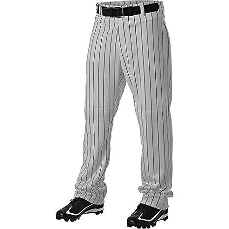 4903c883ec482 Amazon.com   Alleson Athletic Adult Pinstripe Baseball Pant