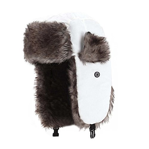 a590a5dfb52 Prooral Unisex Winter Trooper Trapper Hat Hunting Hat Ushanka Ear Flap Chin  Strap and Windproof Mask ...