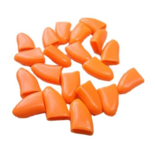 SODIAL Orange XL, 20Pcs Soft Pet Paw Claw Control Dog Cat Na