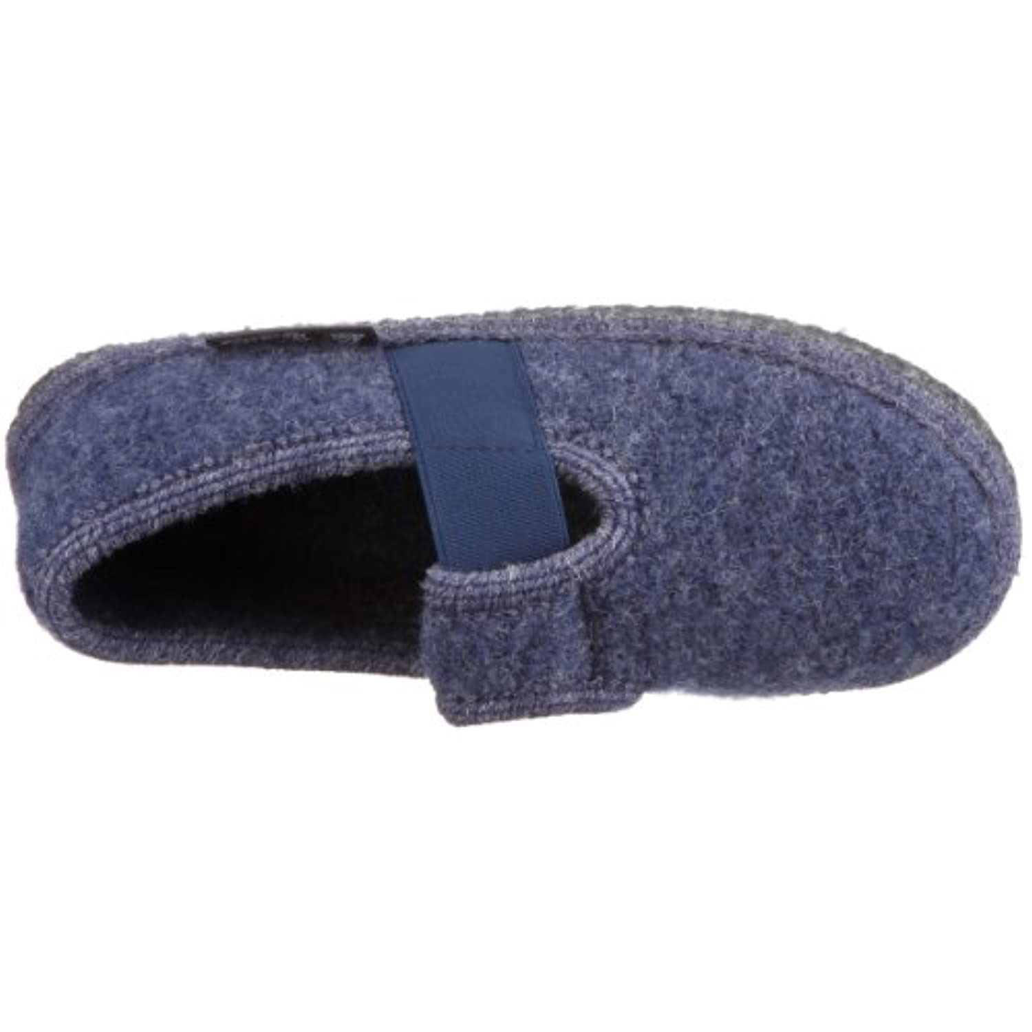 Haflinger  Joschi Slippers Unisex-Child  Blue Blau (jeans 72) Size: 23