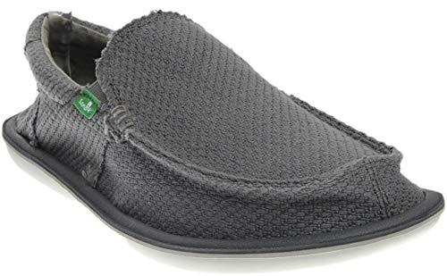 Sanuk Men's Chibalicious Charcoal Hemp Loafer 11 D (M)