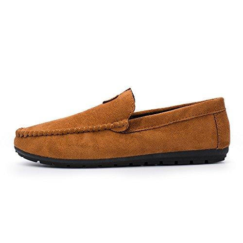 Junge Herren Bequeme Men und Cool Casual Stil Bootsschuhe Fahren Bean Feste Sneaker Braun nbsp;Sommer Freizeitschuhe Schuhe OVERMAL nqIH1H