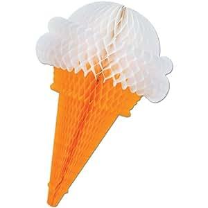 Tissue Ice Cream Cones (asstd chocolate, strawberry, vanilla) Party Accessory  (1 count) (1/Pkg)