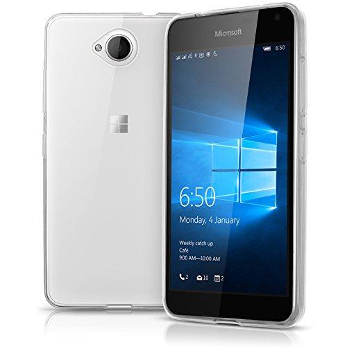 TBOC® Transparent Gel TPU Hülle für Microsoft Nokia Lumia 650 - Microsoft Nokia Lumia 650 Dual SIM Ultradünn Flexibel Silikonhülle