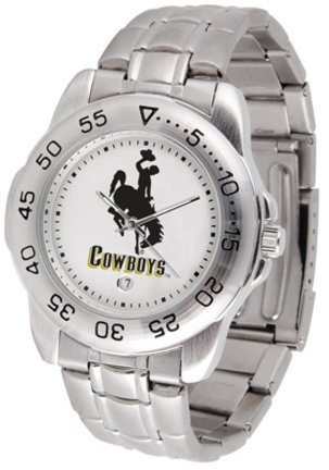 NCAA Wyoming Cowboys Stainless Steel Sport Watch
