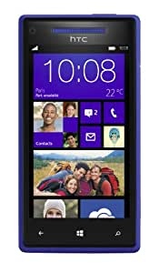 "HTC Windows Phone 8X - Smartphone libre (pantalla táctil de 4,3"" 720 x 1280, cámara 8 Mp, 16 GB de capacidad, 2 procesadores de 1 GHz, 1 GB de RAM, S.O. Windows Phone 8) color azul"