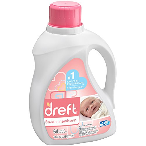 Dreft Stage 1: Newborn Liquid Laundry Detergent (HE), 100 oz (64 Loads)