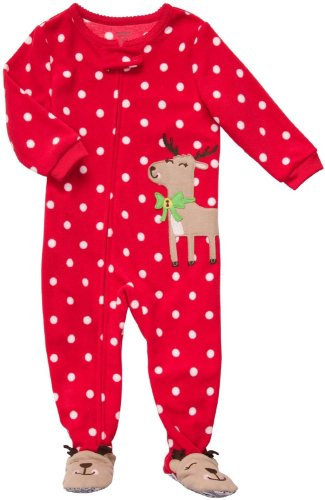 Sleep sets are fun Christmas pajamas for toddlers and babies because you can mix and match tops and bottoms across different sets to make fun and interesting new outfits. They are also practical, because you can change diapers quickly since you only have to remove the bottoms. Choose from graphic or pattern designs for both boys and girls.