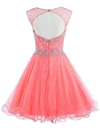 Gowns 032 Homecoming Prom Short Beading Dresses anmor Tulle Blue Bodice Women's sky Z8WxzH