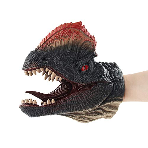 Educational Dolls Clearance, Dinosaur Hand Puppets Role Play Realistic Tyrannosaurus Rex Head Gloves Soft Toy (D)