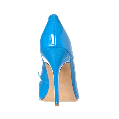 Stiletto Riverberry Toe Women's Blue Heels Pump Closed Patent Gaby Pointed awqprqX7